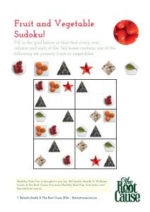 Fruit and Vegetable Sudoku v2