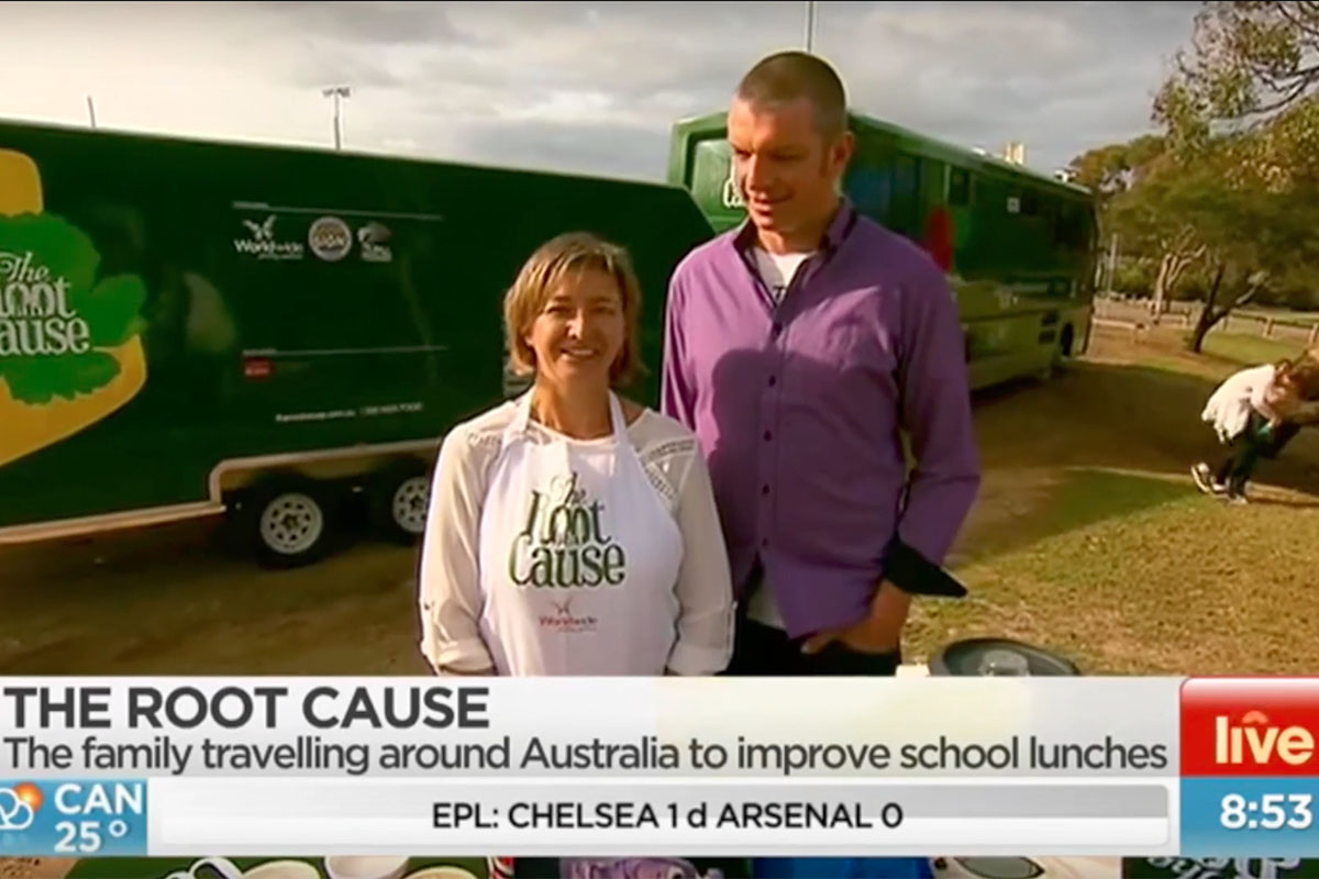 Ch 7 Sunrise Live from Torquay, VIC